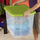 4 Pack Plastic Tote Storage Container Large Organizer Box with Lids Bin Set 95qt