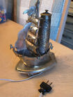 antique persian Brass metalware Sailing  pirate Ship Nautical Night light lamp