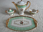 SALE NOW!! Fab antique 24k gold gilt hand-painted coffee/tea service with tray