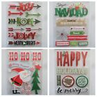 You Choose ASSORTED CHRISTMAS Soft Spoken Dimensional Embellishment Stickers