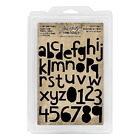 Tim Holtz Idea ology Cutout Lowercase Alpha  Numbers Cling Foam Stamps Th93700