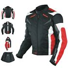 Motorcycle Jacket CE Armored Textile Apparel Racing Thermal Liner Red