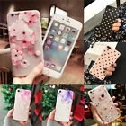 3D Cute Rubber Soft Silicone Pattern Floral Case Cover For iPhone 8 6s 7 Plus X