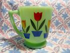 Jadeite Green Glass Dutch Tulip 4 Cup Measuring Cup in Excellent Condition