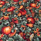 CP11927 Fall Harvest Thanksgiving Gourds  Leaves 100 cotton fabric by the yard