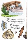 FISH FISHING FAVORITES Clear Unmounted Rubber Stamp Set INKY ANTICS 11112MC New