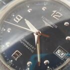Clean S/S Men's Longines Conquest Automatic 21 Jewel Swiss Watch Display Back