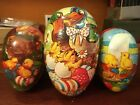 Lot 3 Vintage Western Germany Easter Egg Candy Containers Paper Mache