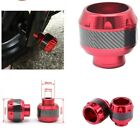 Red Motorcycle Universal Front Fork Wheel Frame Slider Crash Protector 1PCS