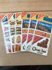 VINTAGE LOT OF 5 NABISCO PUFFY STICKERS CHIPS AHOY ANIMAL CRACKERS CHUCKLES 1982