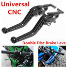 CNC Double disc fast hand brake lever adjustable handlebar Motorcycle Scooter