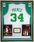 Premium Framed Paul Pierce Autographed Boston Celtics Jersey - Beckett COA