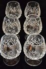 Set of 6 Crystal Waterford Lismore Brandy Glasses Snifters