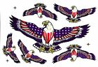 Eagles US USA Flag Stickers Decal For Windshield Body Fairing Fork Fender Window