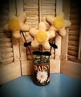 Primitive Daisy Ornies in Can    ~ Garden ~ Flower ~ Doll ~