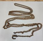 Vintage 15' Rusty Small Twisted Link Log Chain, Homemade Hook,Upcycle,Decor,5 LB