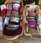 Large LOT New  Lightly Used Craft Ribbon Bakers Twine Sewing Floral 40+