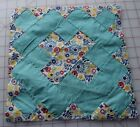 1 1930's Chimney Sweep quilt block, turquoise and floral