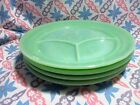 Vintage Fire King Jadeite Restaurant Ware 3 Section Plates in Excellent Cond x 4