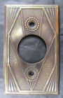 VINTAGE ART DECO SWITCH PLATE SOLID BRASS CIRCA 1930