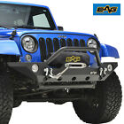 07 18 Jeep Wrangler JK Offroad Front Bumper With D Ring  OE Fog Light Housing