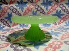 Jadeite Green Glass Cup Cake Stand in Excellent Condition