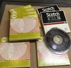 Lot of 9 reel to reel magnetic tapes FM and Scotch blank