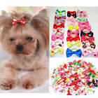 Dog Hair Bows with Rubber Bands 2 piece PACK USA Seller