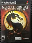 MOTAL KOMBAT: DECEPTION (Sony PlayStation 2, 2004) NICE DISK AND CASE