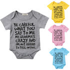 USA Baby Boy Girl Toddler Grandma Romper Jumpsuit Bodysuit Clothes Outfit 0 24M