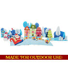 CHRISTMAS VILLAGE Set of Plastic Outdoor YARD SIGNS Standees Standups Holidays