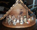 Hummel Nativity Set 12 piece exc condition Goebel Germany with stable 1999
