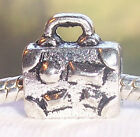 Suitcase Luggage Vacation Travel Trip Bead fits Silver European Charm Bracelets