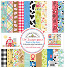 Doodlebug Design Down on the Farm Collection 12 x 12 Paper Pack 5996 Scrapbook