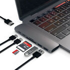 7in1 USB C Hub Dual Type C Multiport Card Reader Adapter 4K HDMI For MacBook Pro
