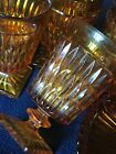 1970's Vtg Indiana Glass Co *-* MOUNT VERNON AMBER *-* Water Glasses, set of 4
