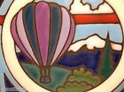 Vintage HOT AIR BALLOON Tile Trivet TAOS  6