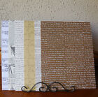 Printed Cardstock Backgrounds 6 Sheets 8 x 11 in 6 Different Patterns