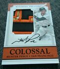 2017 National Treasures Hunter Pence 4 Color Autograph Patch #'ed 3 5