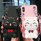 Hello Kitty Cute Cartoon Wrist Band Leather Case Cover For iPhone X 8 7 6S Plus