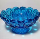 Moon and Stars Colonial Blue Pedestal Compote Bowl 7
