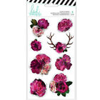 Heidi Swapp Hawthorne Collection Clear Stickers Floral 314128