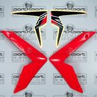 HONDA CRF CRF250 CRF250L -F FRONT FAIRING PANEL PAIR + DECALS RED 2012 - 2017