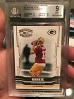 2005 Donruss Throwback Threads Silver Holofoil Aaron Rodgers Rookie BGS 9= PSA 9