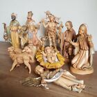Vintage Fontanini Depose Italy Resin Figure Lot 10 Piece Nativity Scene