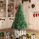 7FT Unlit Artificial Christmas Tree Holiday Season PVC w Stand Indoor Outdoor