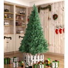 8FT Unlit Artificial Christmas Tree w Stand Indoor Outdoor Holiday Season PVC