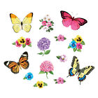 Colorful Butterflies  Flowers Garage Magnets by Collections Etc