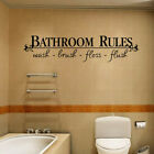 Removable DIY Wall Sticker Bathroom Rules Mural Home Decal Decor Decorative