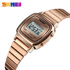 SKMEI Fashion Casual Watch Men Stainless Steel Strap LED Watches 3Bar Waterproof
